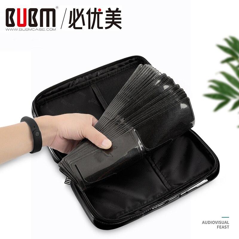 BUBM 64 шт. дисковая емкость ручка для мешка для хранения Dics Carry Box держатель пакет автомобильный чехол альбом DVD CD защитный Органайзер