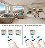 Commutateur WiFi intelligent Smart Life Tuya APP 1 2 Way 95-250V  Module de commutation WiFi avec support de Rail  fonctionne avec Alexa Google Home