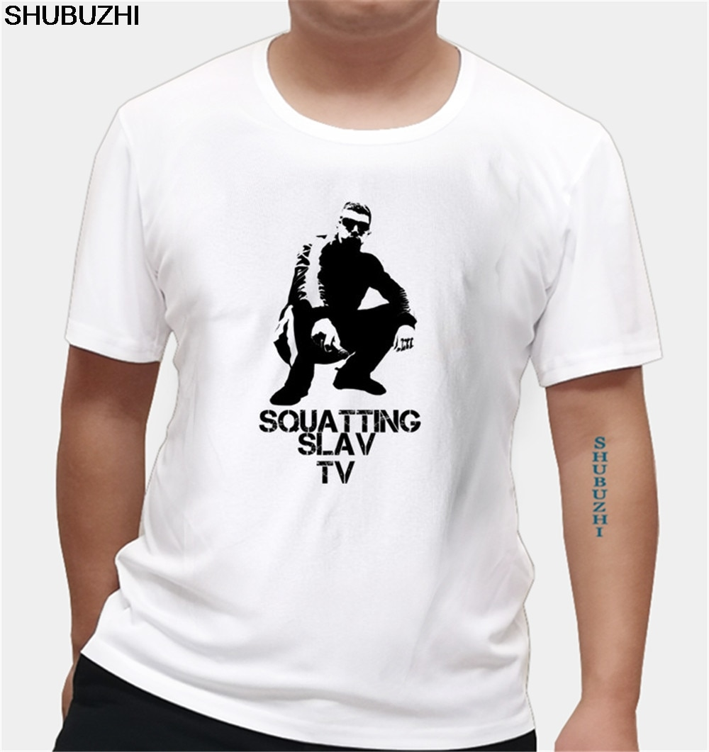 Camiseta de alta calidad para hombre Slav TV Original, camiseta Casual impresa, camisetas, camisetas, tallas europeas
