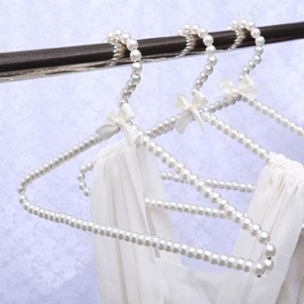 10pcs Pearl Hanger Fashion Hangers for Clothes Home Closet Space Saver Clothes Dress Storage Rack Pearl Hanger Fashion