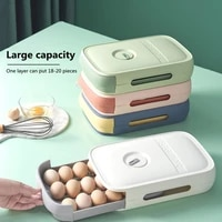 refrigerator fresh keeping egg box drawer type egg tray with lid kitchen storage box can be superimposed on roll out egg box