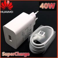 Зарядное устройство Huawei P40 с суперзарядным устройством, ЕС адаптер 40 Вт, 5 А, USB Тип C, для Nova 7 P20 P30 Pro mate 20 30 40 pro, оригинал