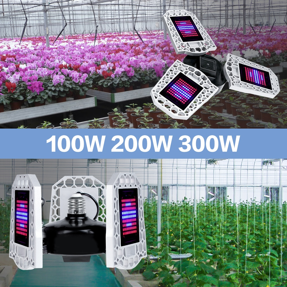 e27 led grow light white 100w 200w 300w 400w led plant light bulb 110v e26 led full spectrum growing lamp 220v greenhouse lamp Waterproof Grow Light Bulb Full Spectrum LED Lamp 100W 200W 300W E27 Deformable LED Plant Growth Light E26 LED Indoor Phyto Lamp