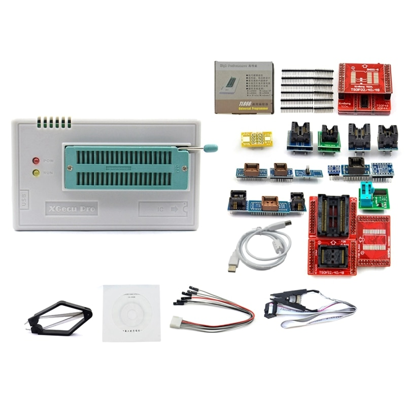 V8.51 Minipro TL866II Plus USB programador apoyo 15000 + IC SPI Flash NAND EEPROM MCU PIC AVR de alta calidad