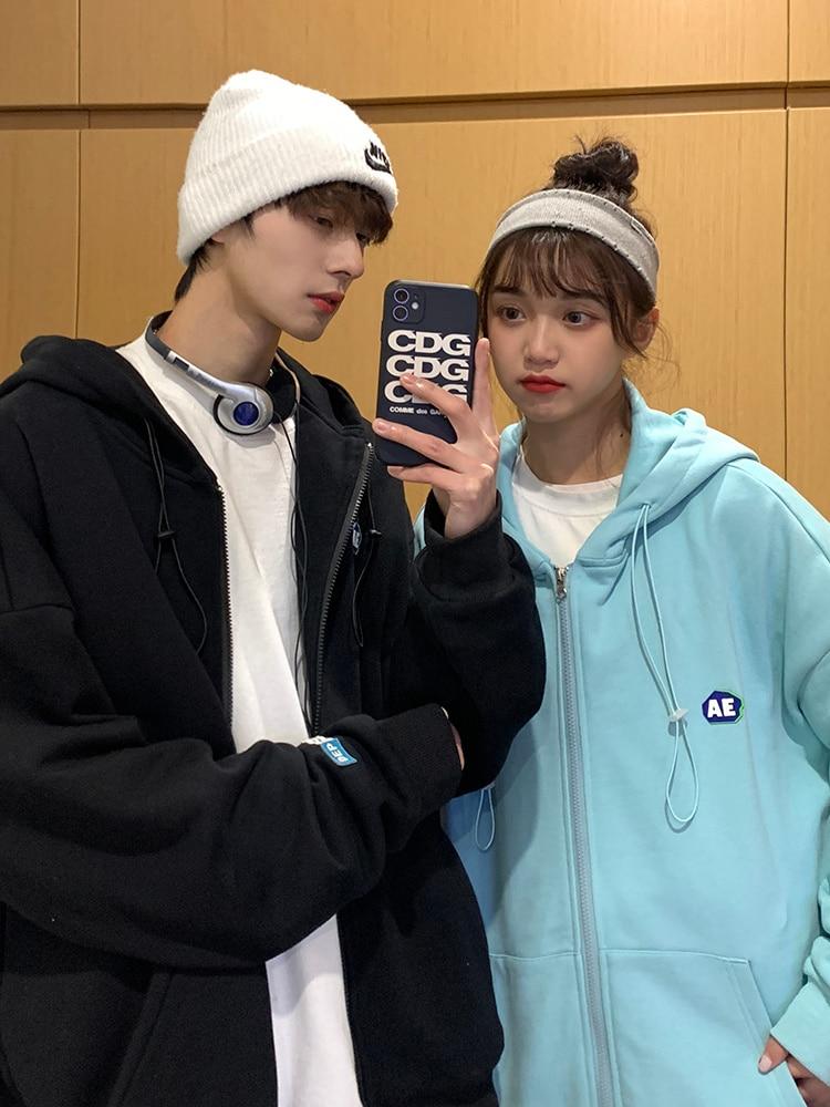 Hoodies Women 2021 New Trend Korean Loose Sports Cardigan Coat Women's Spring and Autumn Thin Class