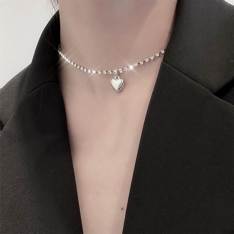 Модное ожерелье-чокер в форме сердца с блестящими цепочками, стразы, новинка 2020, ювелирные изделия для женщин, подарки