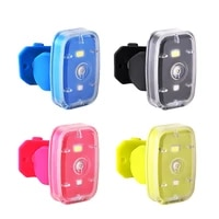 usb rechargeable bicycle taillight led bicycle lights front and rear 2 light mode white red cycling safety flashlight