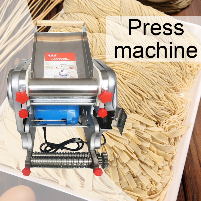 آلة ضغط المعكرونة التجارية المصنوعة من الفولاذ المقاوم للصدأ ، الزلابية ، الجلد المختلط ، آلة المعكرونة الكهربائية المنزلية