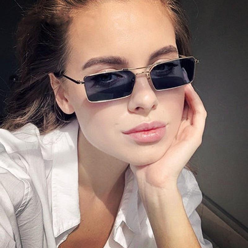 Women Gothic Glasses Travel Driving Metal GlassesWomens High Quality Square Sunglasses Luxury Brand