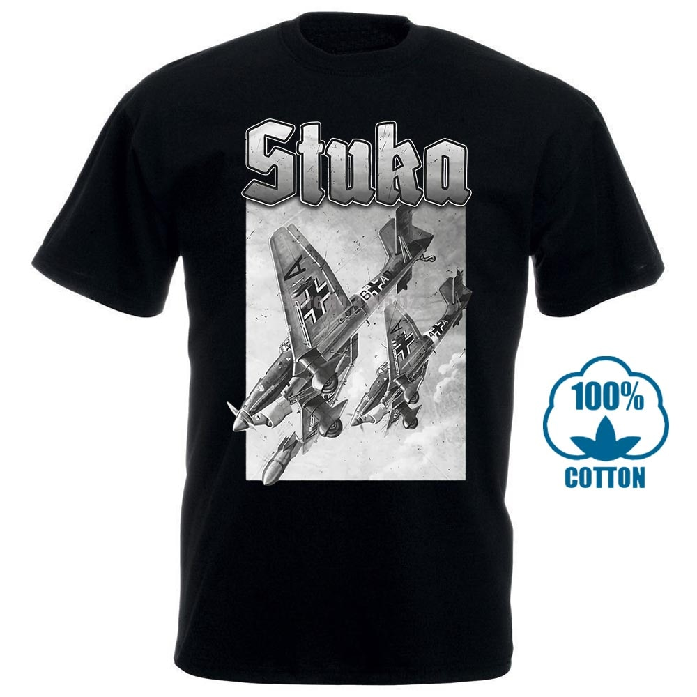 Camiseta de Stuka para hombre y mujer de camisa de moda de...