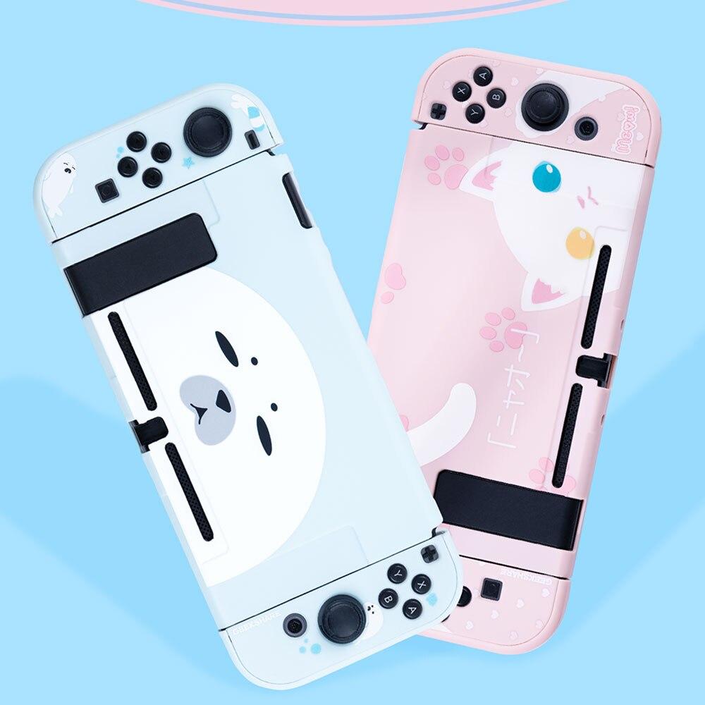Funda protectora, funda para interruptor, carcasa para interruptor NS Joy-Con, carcasa de cubierta completa, bonita funda rosa para Nintendo Switch