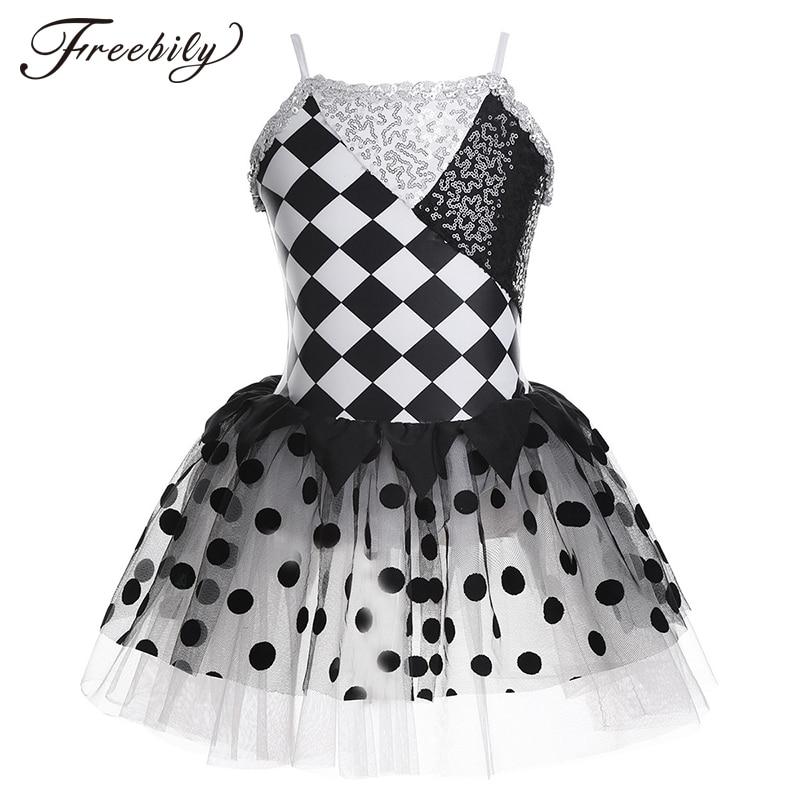 kids-spaghetti-straps-shiny-sequins-geometrical-pattern-mesh-tutu-ballet-dress-girls-gymnastics-leotard-stage-dance-costume