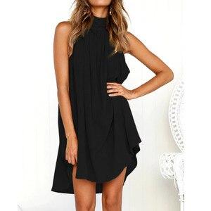 Dress Women Holiday Irregular Dress Ladies Summer Beach Sleeveless Party Dress vestidos verano New Arrival dresses for women