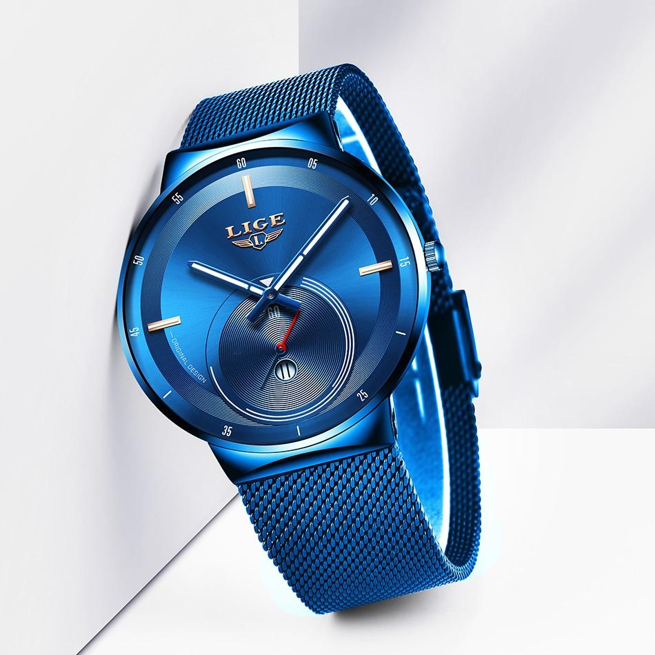 ¡Novedad de 2020! Reloj de oro rosa LIGE, relojes de cuarzo para mujer, reloj de pulsera de lujo para mujer, reloj de mujer para mujer, regalo para esposa Zegarek Damski