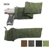 airsoft 14 36cm pistol gun sock knit handgun protector cover holster shot gun fishing rod cover bag hunting accessories