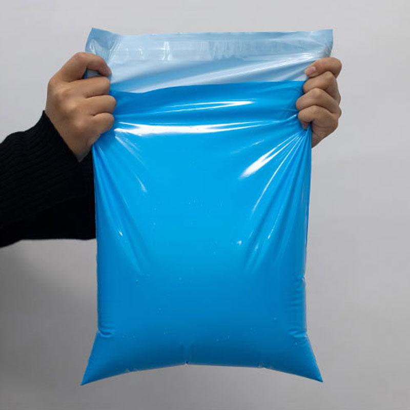 50 قطعة اللون الأزرق البريدية البلاستيك ساعي أكياس التخزين بولي مقاوم للماء اكسبرس حقيبة التعبئة والتغليف الذاتي ختم رشاقته حقائب للشحن