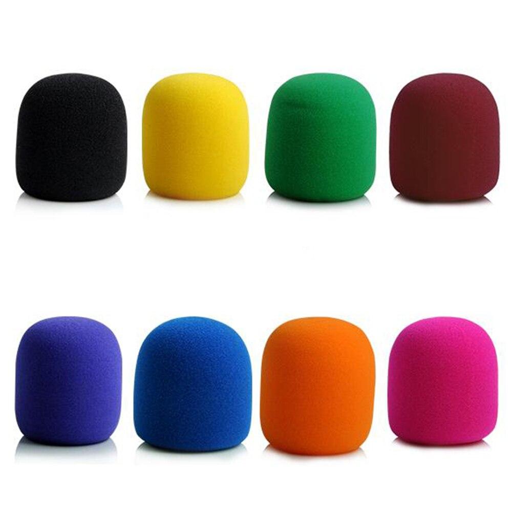 3 pçs mix cores esponja conjunto de microfone substituição espuma dj estágio windshield vento escudo capa grossa lavável
