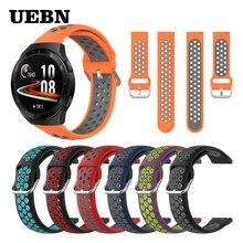UEBN Sport Bracelet en Silicone pour HUAWEI montre GT 2e Smartwatch poignet Huawei montre GT 2 46mm Bracelet de remplacement Bracelet bracelets de montre