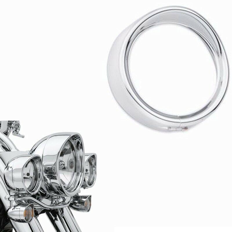 Embellecedor de luz antiniebla DE REPUESTO accesorios Metal decorar Visor de anillo para Harley