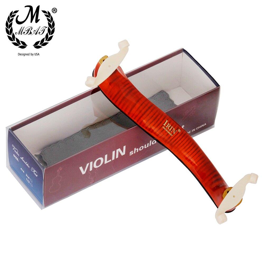 Регулируемый плечевой упор M MBAT из твердой древесины для скрипки 3/4 4/4, струнные аксессуары для скрипки, губчатые плечевые накладки