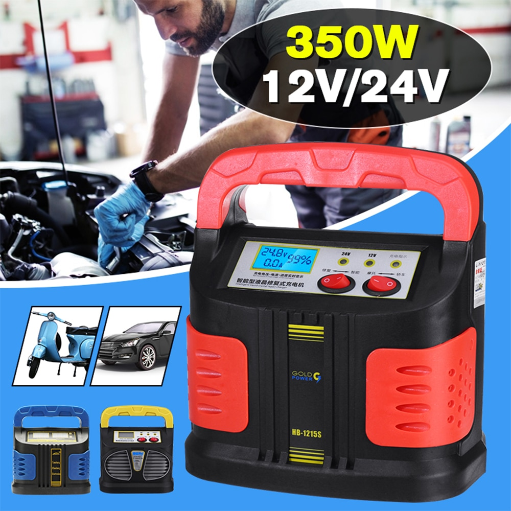 Automatic Battery Charger 12/24V Jump Starter Emergency Charger Booster Power Bank Pulse Repair Devi