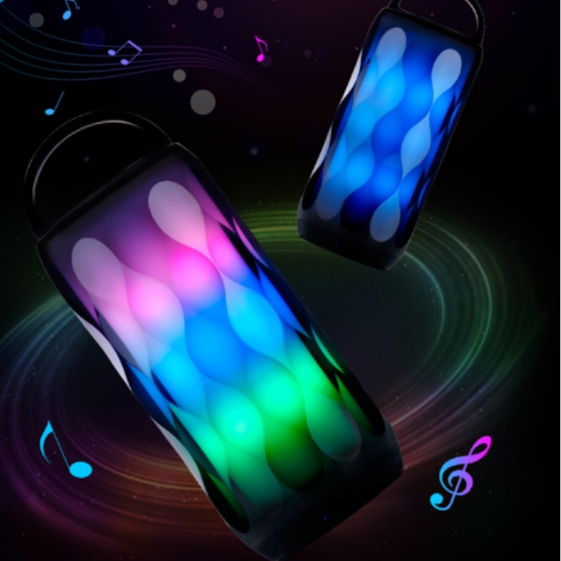 Bluetooth Speaker Portable Outdoor Loudspeaker Wireless Stereo Music Surround Support light Change Color Pluggable Storage Card enlarge
