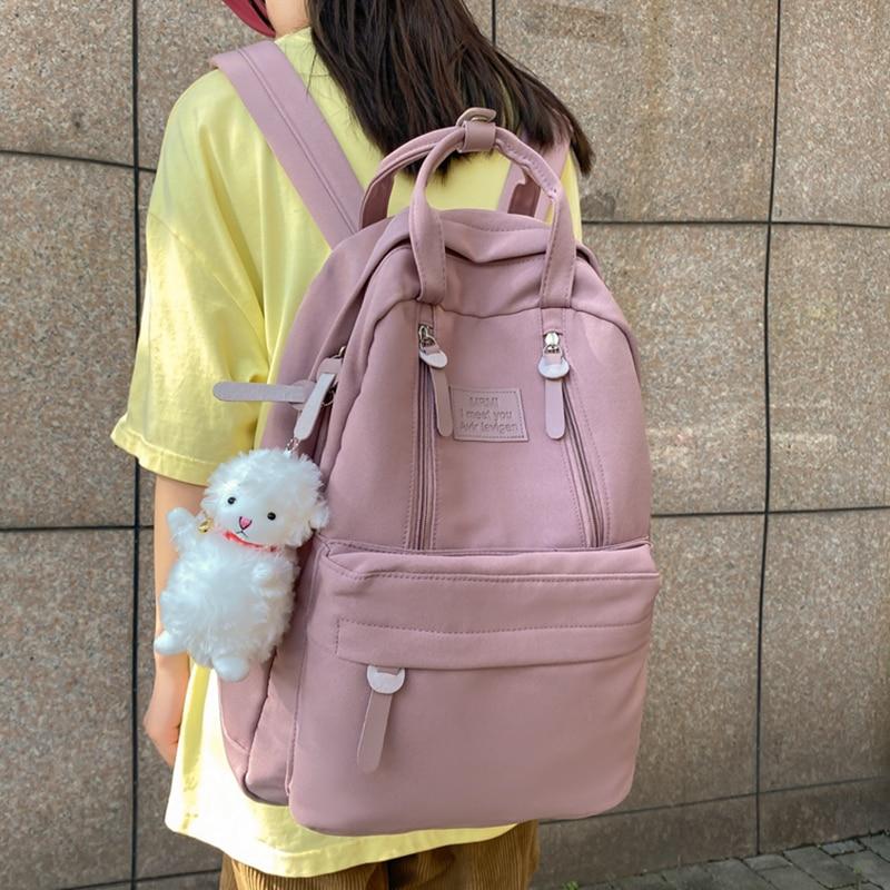 New Waterproof Nylon Woman Backpack School Bag for Teenage Girls Boys Female Large Capacity Travel R