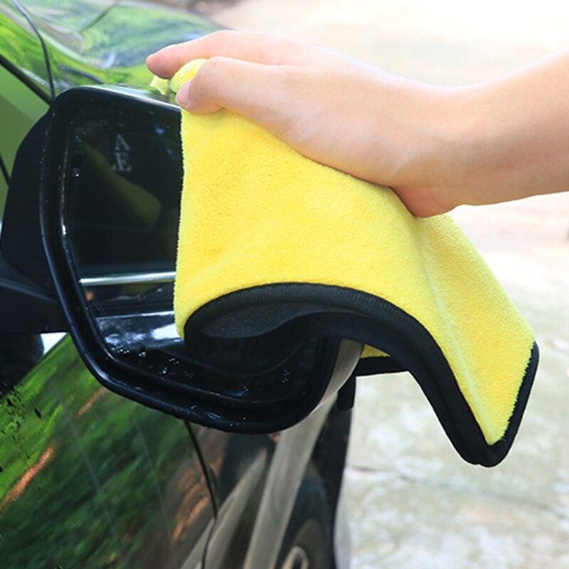 Car Towel Care Polishing Clean Towel Plush Microfiber Drying Cloth Towel Car Wash & Maintenance Car Towel Car Accessories