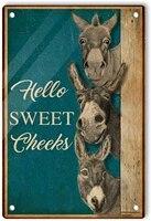 Signe retro en etain   Hello Sweet chekles   pour hommes  Plaque murale legere et Vintage  decoration  cadeaux amusants  Bar a la maison