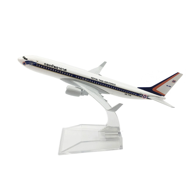 1/400 Scale Aircraft Boeing 737 Royal THAI Air Force 16cm Alloy Plane B737 Model Children Gift Collection Decorations