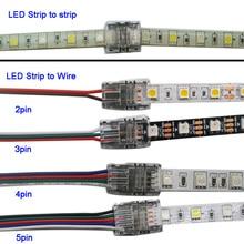 5 Stks/partij 2pin 3pin 4pin 5pin Led Strip Connector Voor 3528 5050 Led Strip Wire Of Strip Strip verbinding Gebruik Terminals