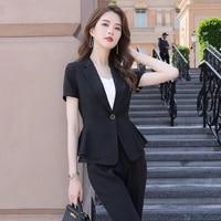 2020 summer short sleeve small suit jacket female business suit female suit skirt overalls womens suit office uniforms 2 piece