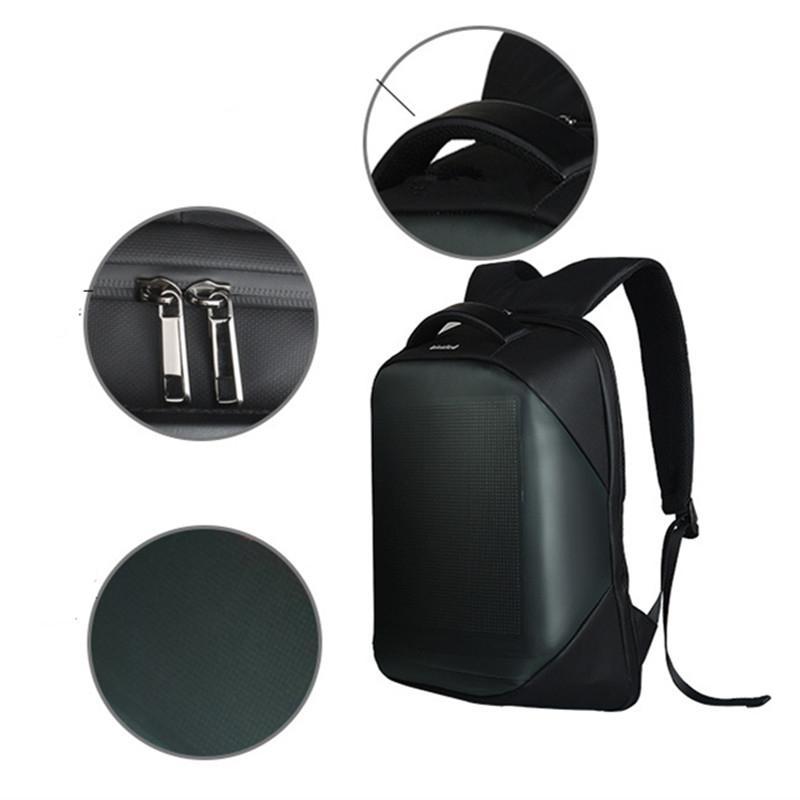 Mochila HiMISS LED inteligente Wifi con pantalla led mochila impermeable para caminar al aire libre mochila de publicidad LED