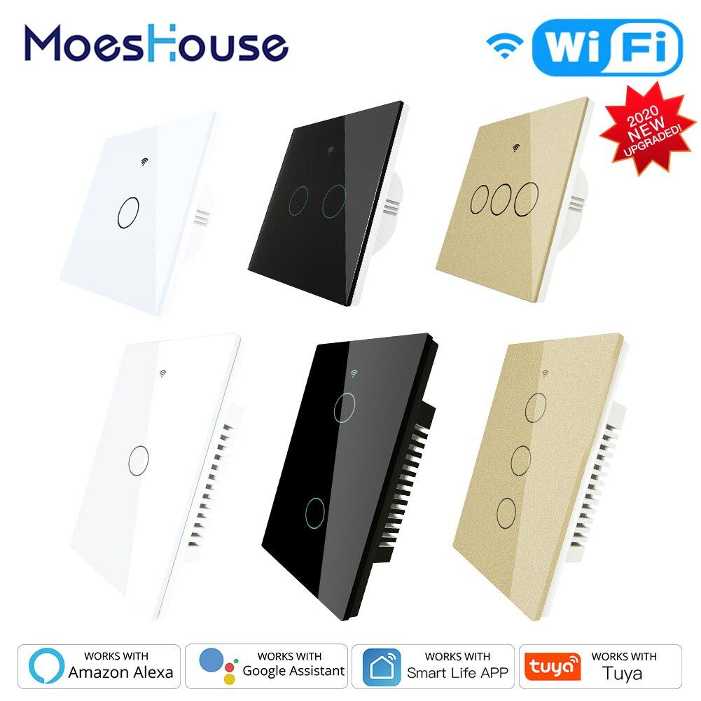 Controlador inteligente para hogar Alexa RF433, enchufe de pared inteligente con WiFi, Control por voz y 1/2020 entradas, canales para 2/3 UE y EE. UU. 2/3