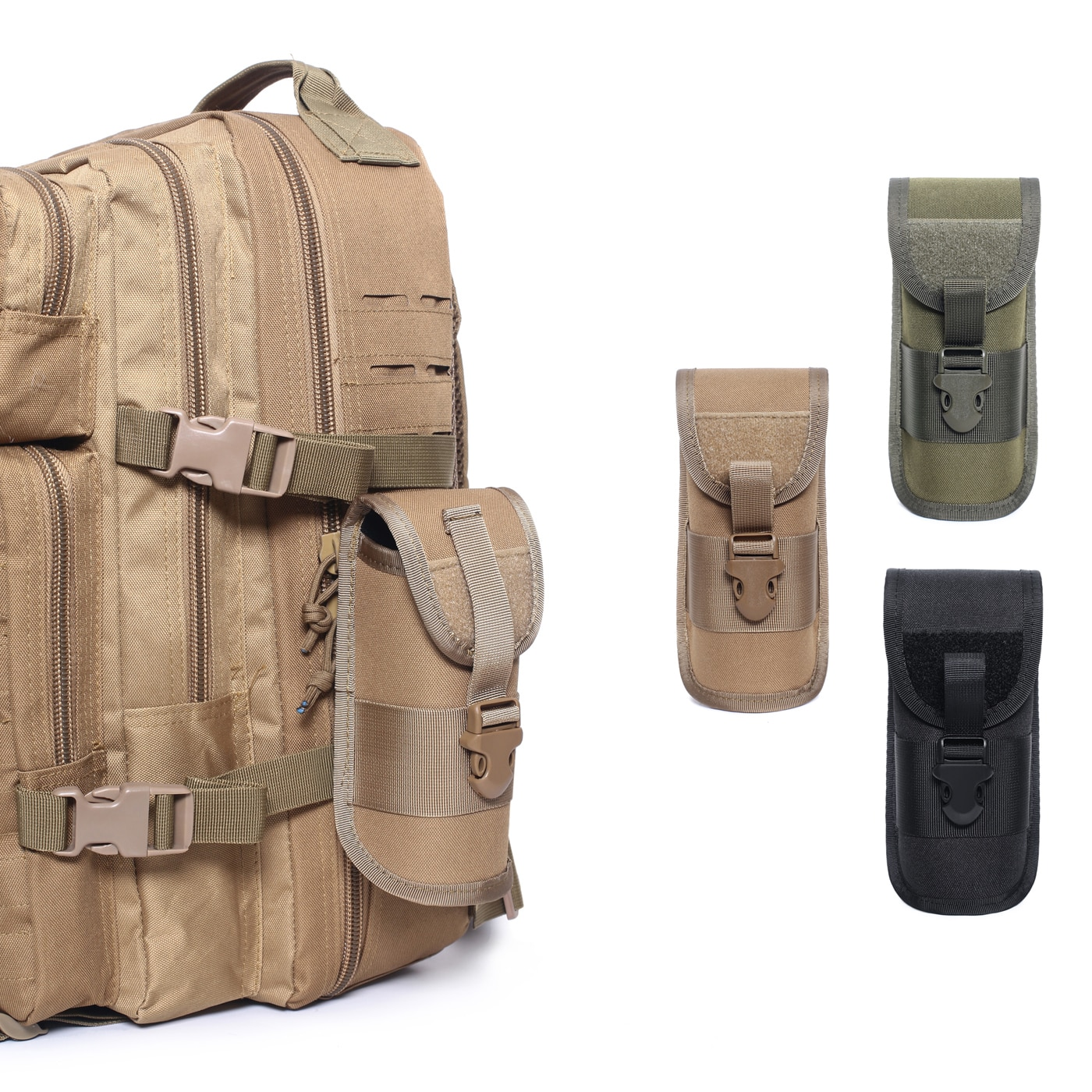 Outdoor Hunting Sunglasses Case  Military Molle Pouch Goggles Storage bag Box Nylon  waist fishing r