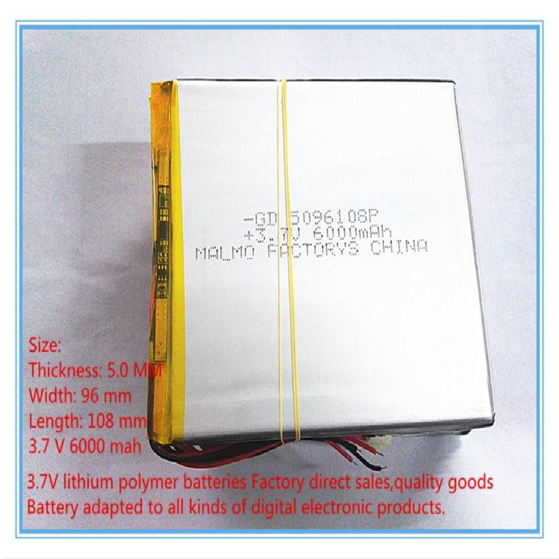 Frete grátis 3.7 V bateria do tablet 6000 mah grande-capacidade PDA PC MID 5096108