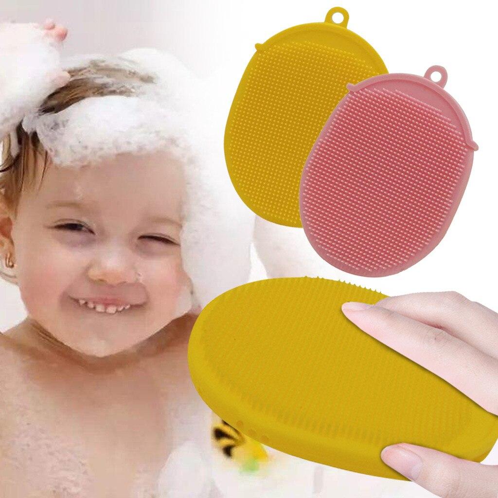 Мягкий силиконовый детский мытье шампунем Массажная щетка для волос Массажер расческа для головы мочалки для душа Прямая доставка G826