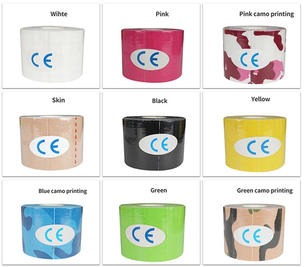 Colorful Athletic Wrap Tape Self Adhesive Elastic Bandage Sticky Muscle Bandage Sports Protector Kne