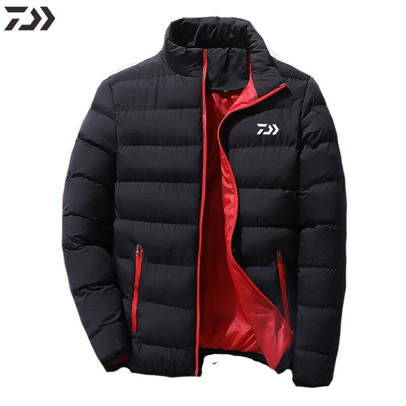 Kurtka wędkarska Daiwa płaszcze zimowe dla wędkarzy mężczyźni utrzymuj ciepłą kurtkę przyczynowa bawełniana koszula wędkarska Outdoor Sports odzież wędkarska