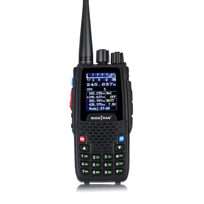 Quad Band handheld Two-Way Radio KT-8R 4 band Walkie Talkie Outdoor Intercom UHF VHF Ham Transceiver