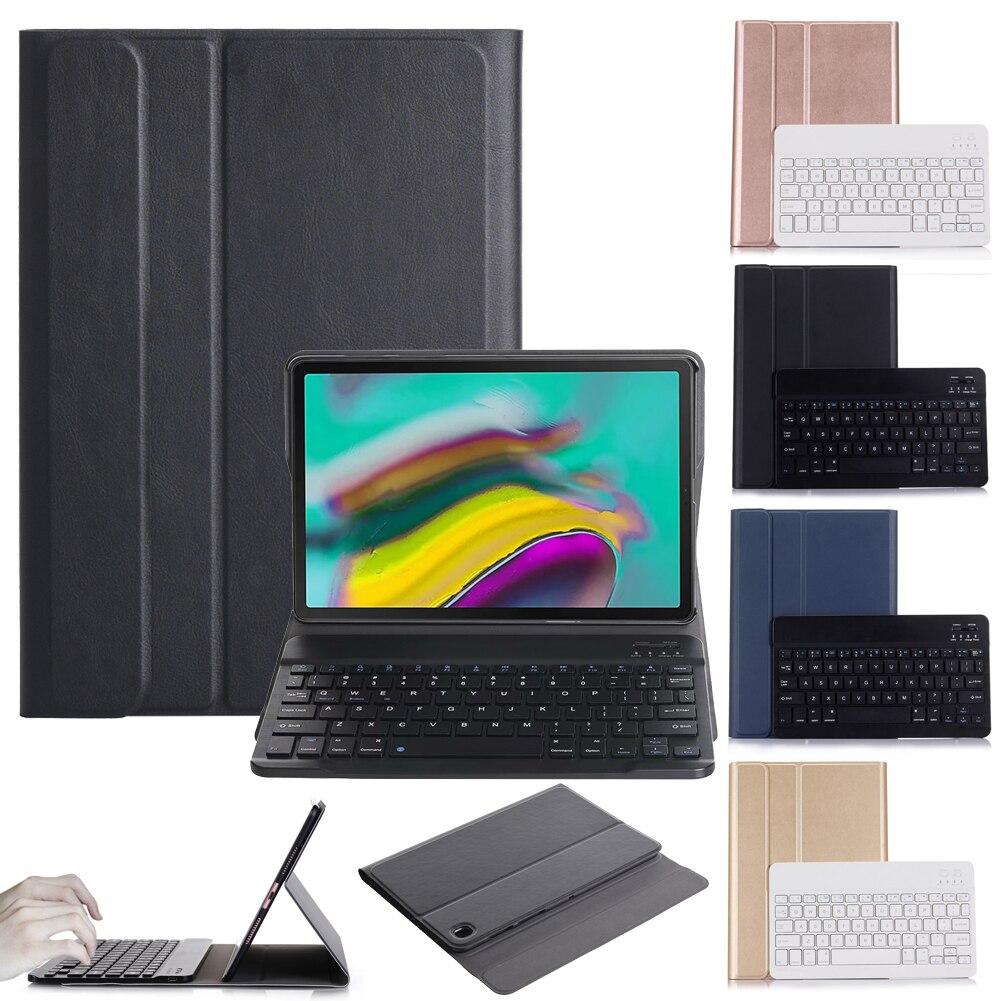 Для Samsung Galaxy Tab A7 10,4 2020 T500 / 505 съемный ультра-тонкий ударопрочный чехол Bluetooth беспроводная клавиатура с длительным сроком службы