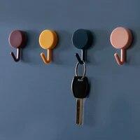 10pcs strong non marking hook kitchen bathroom hook self adhesive kitchen hook household wall hanging door hook multifunctional