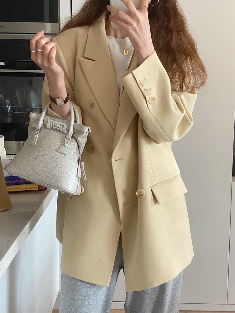 Suit Coat Loose Women's 2021 New Spring And Autumn Design Sense Of Minority Temperament Leisure Earl
