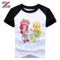 strawberry shortcake tee strawberry princess tshirt girls t shirt baby girl t shirt 2020 summer t shirt 05121 0511