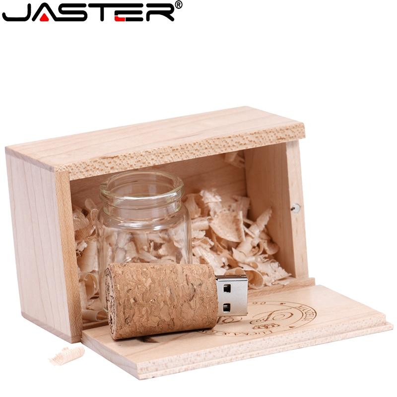 Presente de casamento da vara da memória do disco da movimentação do flash de usb das garrafas de vidro do desejo de jaster que flutua o usb 2.0 4gb 8gb 16gb 32gb 64gb