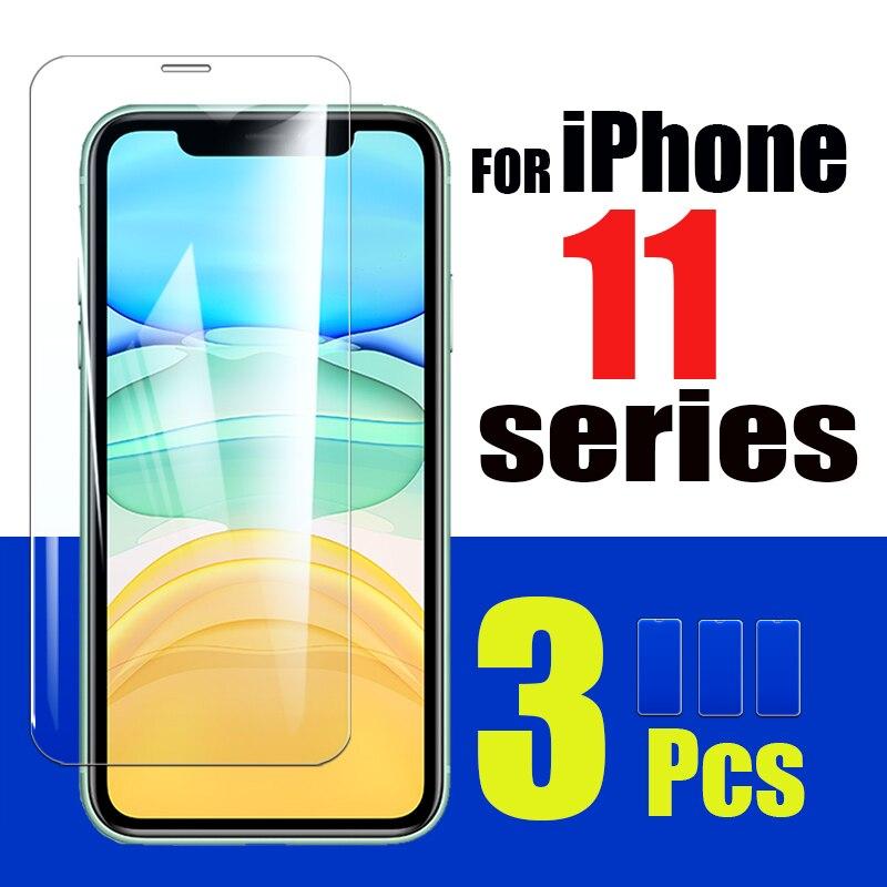 1-3 uds. iphone 11 pro vidrio de máxima protección protector de pantalla para apple iphone 11 11pro phone11 protector de pantalla hoja Glass 9H