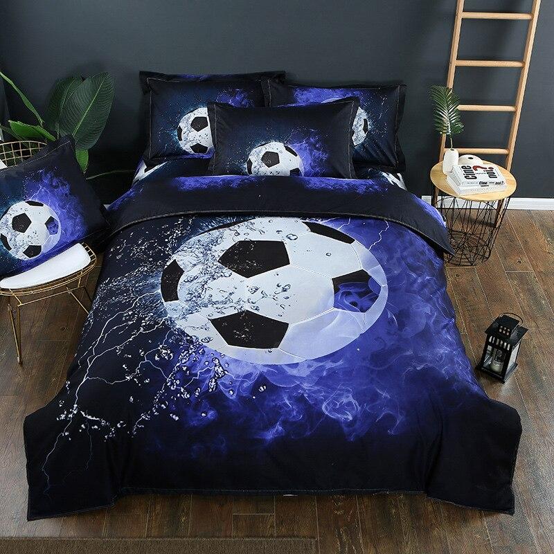 Комплекты постельного белья с 3D принтом футбольная спортивная серия пододеяльник с наволочками подарочные постельные комплекты для баске...