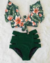 Print Swimwear Women High Waist Bikini Ruffle Swimsuit Push Up Bikinis Set Bathing Suit Beach wear Summer Biquini Female