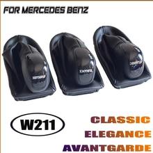 Auto Pookknop Staafhendel Headball Fit Voor Mercedes Benz W211 Zwart Leer Met Gaiter Boot Cover Avantgarde Classic