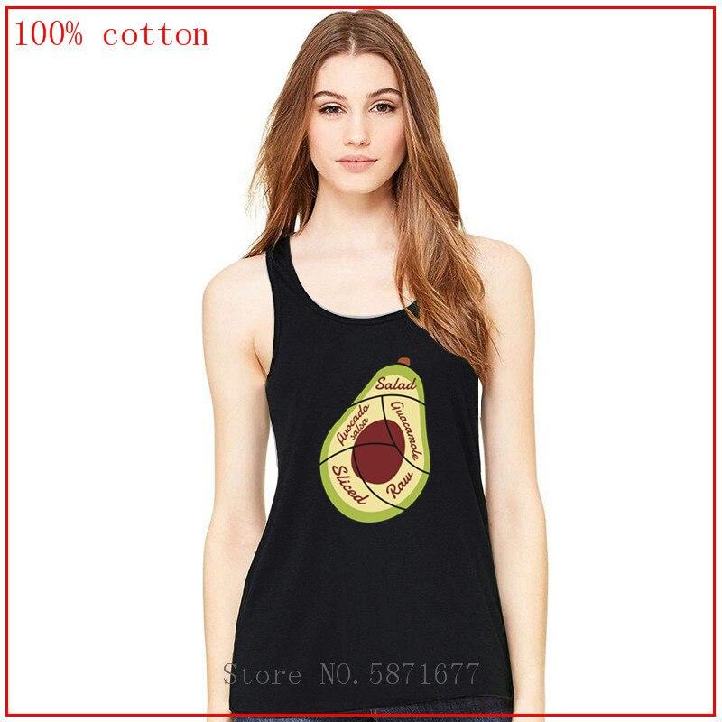 ¡Disfrute de su aguacate! Camiseta corta sin mangas top crop camiseta blusas mujer de moda 2020 verano elegantes sexy top